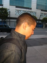 Daniel in a hurry to Moscone.jpg