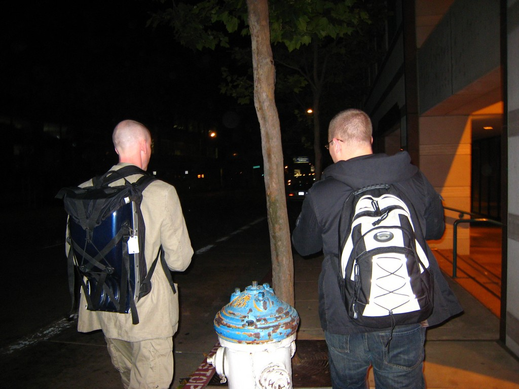 Magnus and Karl-König walking back to the Hotel at midnight-2.jpg