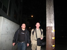 Magnus and Karl-König walking back to the Hotel at midnight.jpg