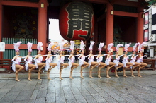 Linedancers at Asakusa
