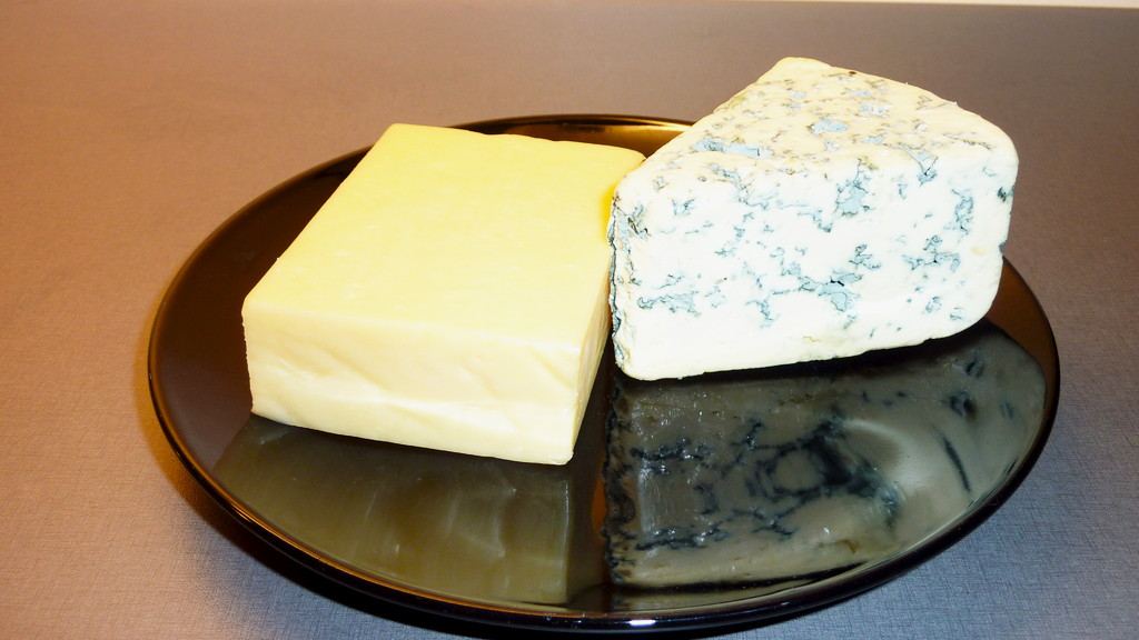 Cheddar and Blue cheese