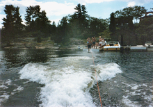 Water skiing dock start GBay1985.jpg