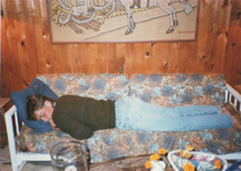 Jakob taking a nap after his first ever Molson Canadian.jpg