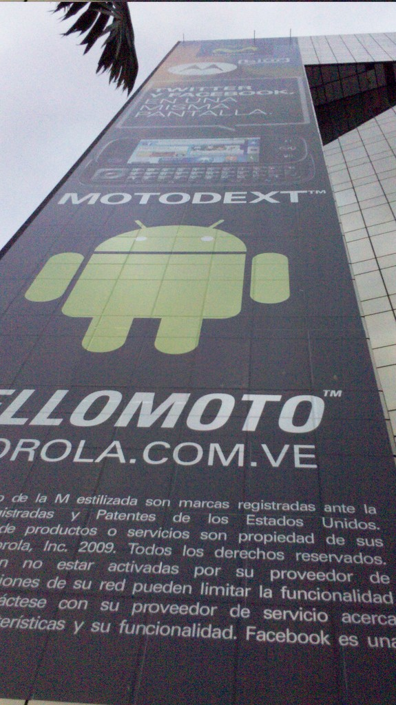 Huge android logo Caracas