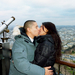 French kissing at the Eiffel Tower