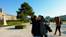 Kissing in Paris