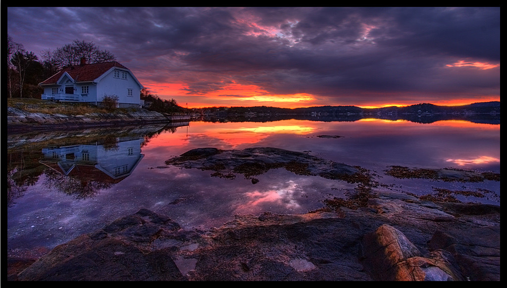 Sunset in Bamle Norway
