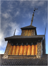 The top of Eidsborg Church
