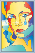 Sadness in stained glass istock illustration