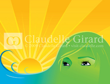Woman sunset landscape  istock illustration