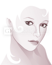 Woman on white istock illustration