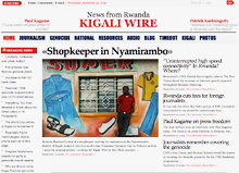 The kigaliwire site is just about ready. Here's an early screenshot