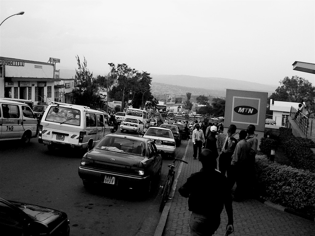 "Downtown Kigali in ""rush hour"""