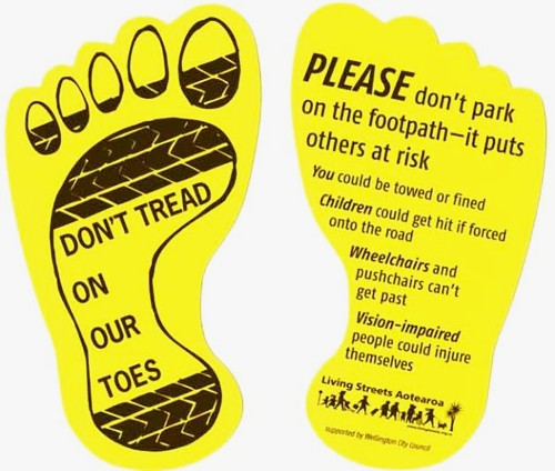 Pavement Stikcers for the Yellow Steps Campaign