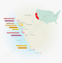 California's most important Pinot Noir areas