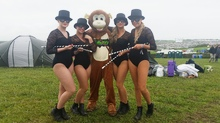 Masked Ball Porthleven Jumunjy Monkey and Dancing Girls