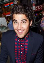 Darren Criss enters the 'Today Show' studios in NYC