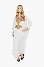 White Long Sleeved Maxi dress