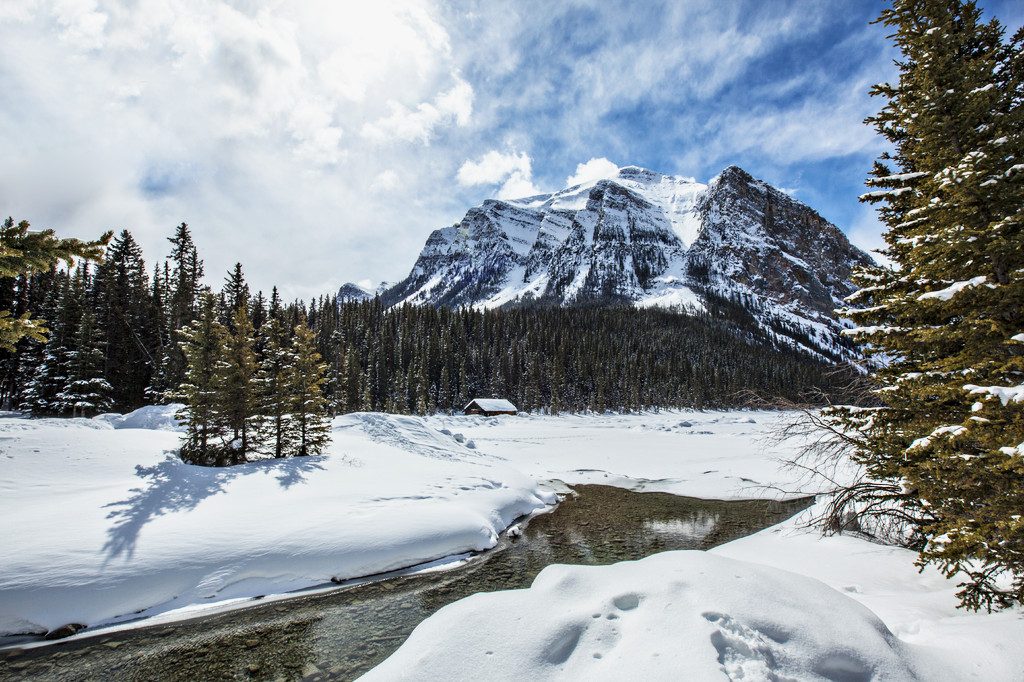 Lake Louise with snow