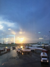 Sunset during storm at DFW - Mack Prioleau.JPG