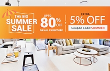 Hurry Up!!! Summer Furniture Sale Get Up to 80% + Flat 5% Off on All New Furniture