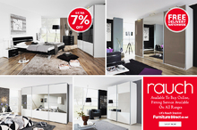 Rauch Bedroom Furniture Sale | Quadra Gliding Door Wardrobe  | Furniture Direct UK