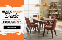 Black Friday & Cyber Monday Dining Sets Sale Up to 80% + Flat 10% Off