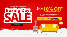 Best Boxing Day Deals : Extra 10% Off on All Furniture