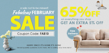 Fabulous February Furniture Sale Get UP TO 65% + EXTRA 5% OFF on Your Choice