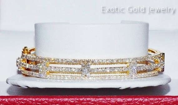 Bangle bracelet of 18K Gold – Exotic Gold Jewelry