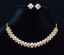 Necklace and Earring Set of Diamonds – Exotic Gold Jewelry