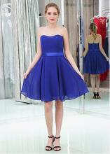 ROYAL BLUE A-LINE COCKTAIL DRESSES WITH BELT  (2)