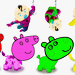 Learn Colors with Peppa Pig, Spiderman, Cute Animals - Learn Colors for Kids Latest 2018