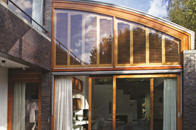 Arched Wooden Shutter Window Blinds